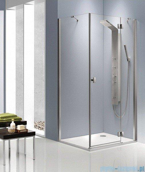 Radaway Kabina prysznicowa Essenza KDJ 80x100 prawa szkło przejrzyste + brodzik Doros D + syfon 32849-01-01NR