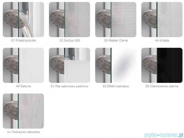 SanSwiss Pur PUR51 Drzwi 1-częściowe do kabiny 5-kątnej 45-100cm profil chrom szkło Efekt lustrzany Prawe PUR51DSM21053