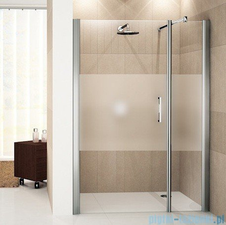 Novellini Drzwi do wnęki z elementem stałym GIADA G+F 138 cm lewe szkło przejrzyste profil srebrny GIADNGF138S-1B