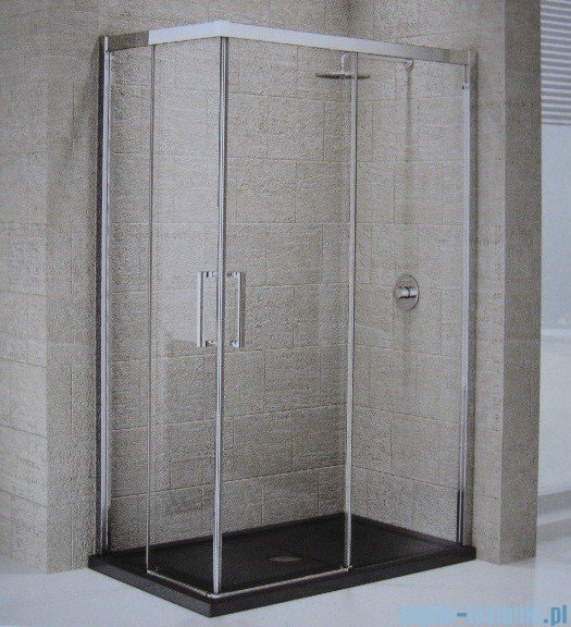 Novellini Elysium Kuadra A Ścianka prysznicowa 96cm prawa szkło przejrzyste profil chrom KUADA96LD-1K