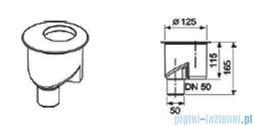 Tece Kolano odpływowe z syfonem pionowym Tecedrainline 1,30l/s 6.500.03