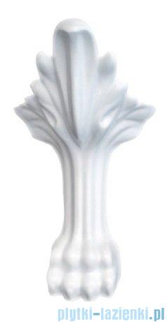 Besco Otylia wanna owalna Retro 160x77 czarno-biała + nogi białe