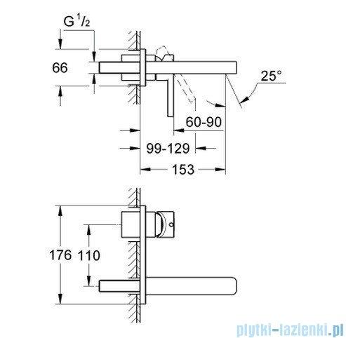 Grohe Lineare 2-otworowa bateria umywalkowa 19409000
