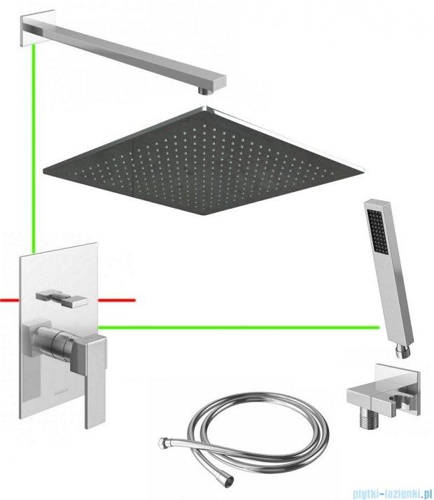 Kohlman Excelent podtynkowy zestaw prysznicowy QLE01