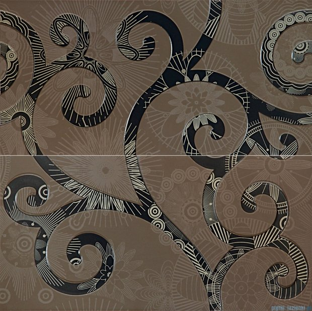 Tubądzin Elle gold dekor ścienny 2-elementowy 59,8x59,8