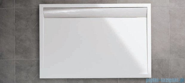 SanSwiss WIA Brodzik konglomeratowy prostokątny 80x90cm biały/połysk WIA800905004