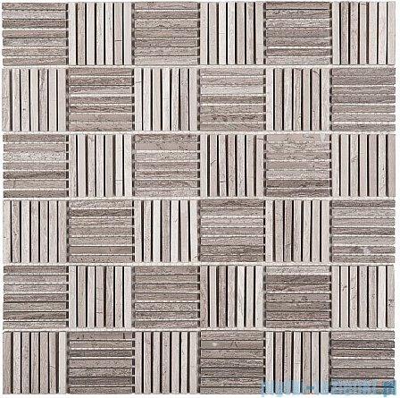Dunin Woodstone mozaika kamienna 30x30 grey tatami 48