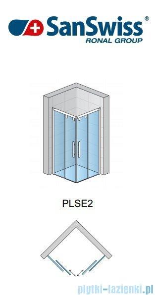 SanSwiss Pur Light S PLSE2 Drzwi narożne rozsuwane 80cm Lewe PLSE2G0805007