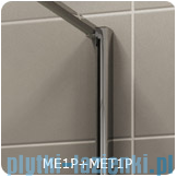 SanSwiss Melia MET1 ścianka prawa 100x200cm krople MET1PD01001044