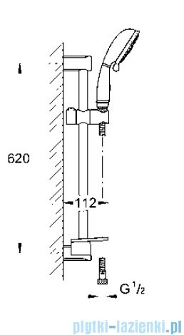 Grohe New Tempesta Rustic 100 zestaw prysznicowy IV  27609000