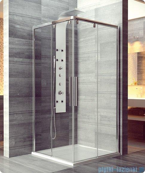 SanSwiss Pur Light S PLSE2 SM Drzwi narożne rozsuwane 120-160cm profil połysk szkło przejrzyste Prawe PLSE2DSM45007