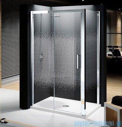 Novellini Elysium Kuadra 2P Drzwi przesuwne 132cm Lewe szkło przejrzyste profil chrom KUAD2P132S-1K