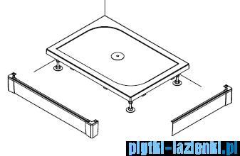 SanSwiss PWIL Obudowa brodzika 2-stronna 80x160cm czarny mat PWIL08016006