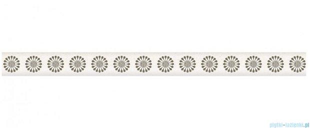 Paradyż Piumetta bianco murano listwa ścienna 2,3x29,5