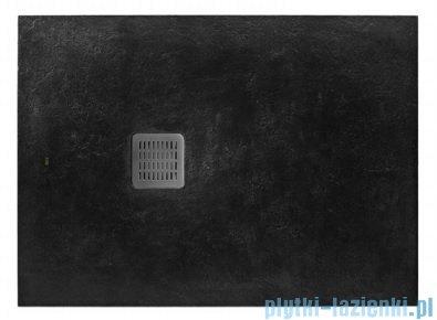 Roca Terran 180x70cm brodzik prostokątny konglomeratowy czarny AP017082BC01400
