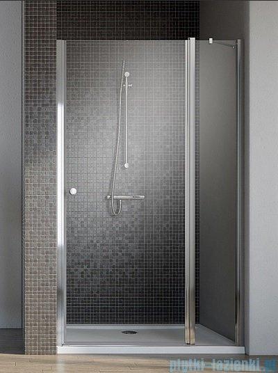Radaway Eos II DWJ Drzwi prysznicowe 100x195 prawe szkło przejrzyste + brodzik Delos C + syfon 3799442-01R/SDC1010-01