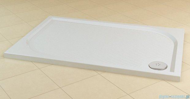 SanSwiss Marblemate Wma Brodzik prostokątny 80x100cm granit czarny WMA80100154