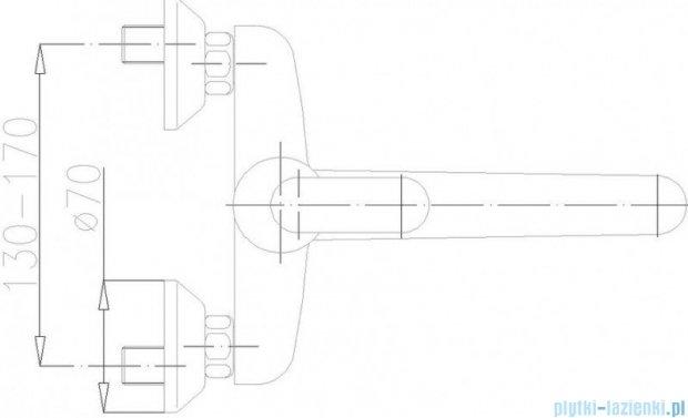 KFA Cyrkon bateria zlewozmywakowa ścienna, kolor chrom 580-910-00