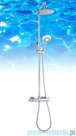 Omnires zestaw prysznicowy natynkowy termostatyczny chrom Y1244/6-X
