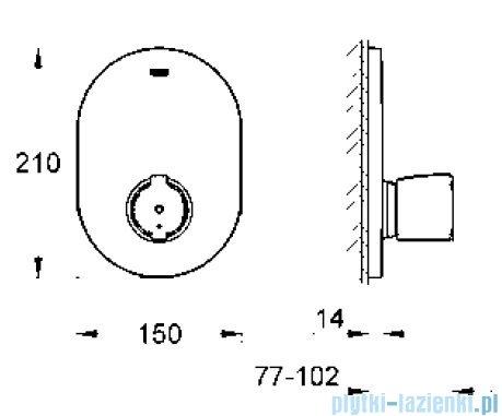 Grohe Grohtherm 2000 Special bateria centralna z termostatem  19418000