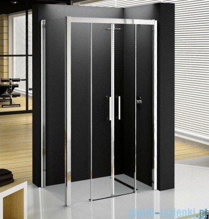 Novellini Elysium Kuadra 2A Podwójne drzwi przesuwne 162cm szkło przejrzyste profil chrom KUAD2A162-1K