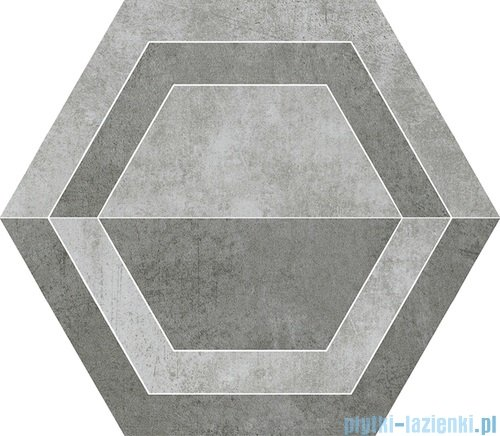 Paradyż Scratch grys B heksagon 26x29,8
