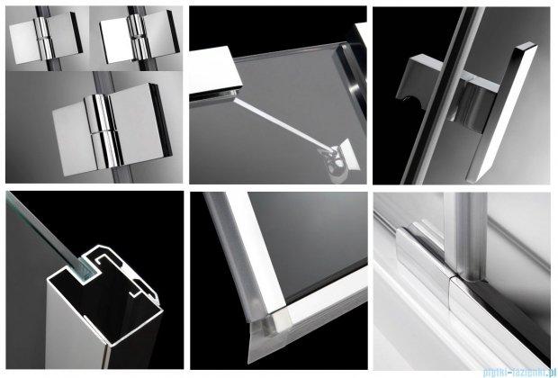 Radaway Kabina prysznicowa Essenza KDD 100x90 szkło przejrzyste + brodzik Doros D + syfon 32874-01-01NL
