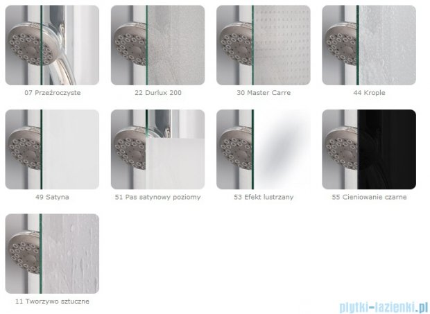 SanSwiss Top-Line TOPS3 Drzwi 3-częściowe 70cm profil biały TOPS307000407