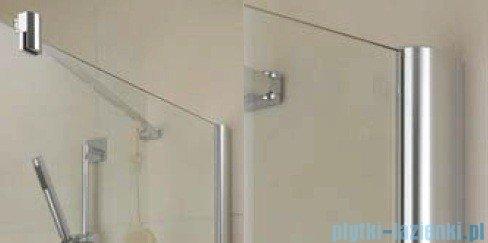 Kermi Diga Ściana boczna, szkło przezroczyste, profile biel 120x200cm DITWD120202AK