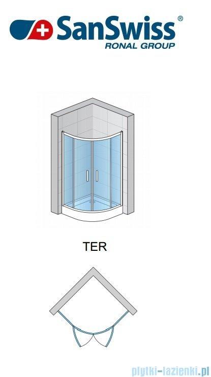 SanSwiss Top-Line Ter Kabina półokrągła 100cm profil srebrny TER501000107