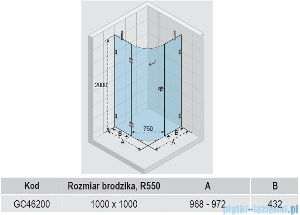Riho Scandic S308 kabina prysznicowa 100x100x200 cm GC46200