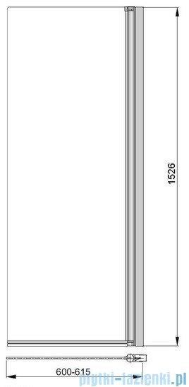 Poolspa Parawan nawannowy prosty Fiord 60x153 cm (lewy/prawy) PI4000093