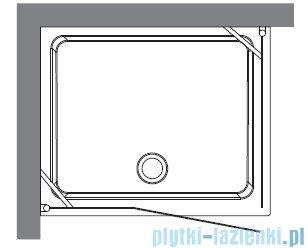 Kerasan Retro Kabina prostokątna prawa szkło piaskowane profile chrom 80x96 9141S0