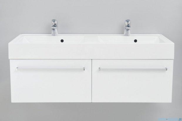 Antado Variete szafka z umywalką, wisząca 120 biały połysk FM-442/6 + FM-442/6 + UNAM-1204D