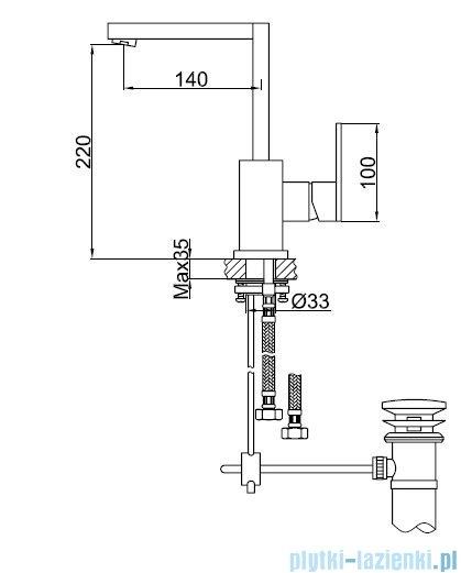 Kohlman Nexen bateria umywalkowa chrom QB150U