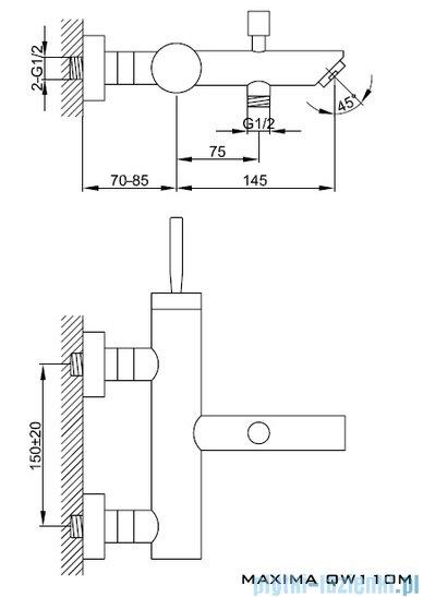 Kohlman Maxima Bateria wannowa QW110M