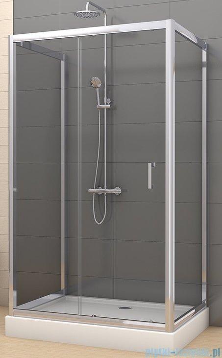 New Trendy Varia kabina prysznicowa trójścienna 80x100x80x190 cm szkło grafitowe K-0251