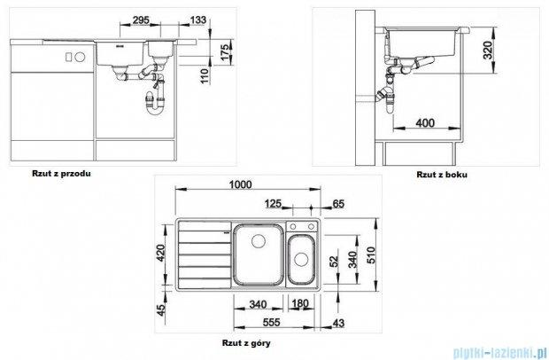 Blanco Axis II 6 S-IF zlewozmywak prawy stal szlachetna polerowana  z k. aut. i akcesoriami 516529