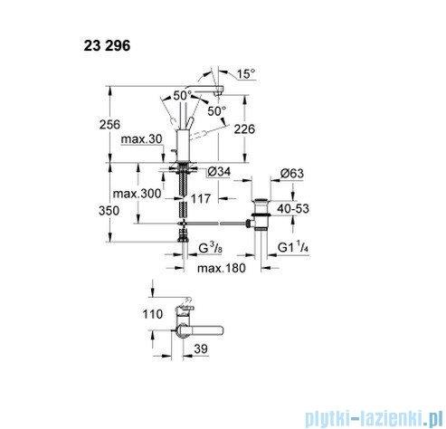 Grohe Lineare bateria umywalkowa DN 15 wysoka 23296000