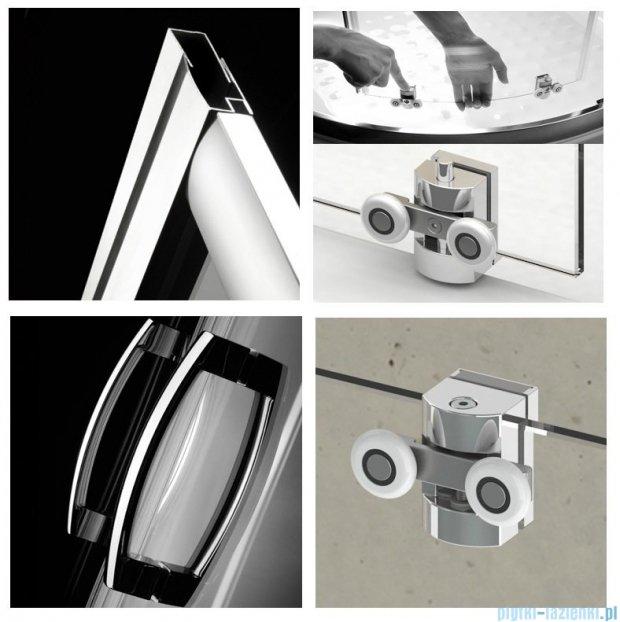 Radaway Premium Plus DWJ Drzwi wnękowe 100 szkło przejrzyste + Brodzik Delos C + syfon 33303-01-01N
