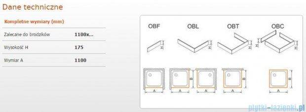 Sanplast Obudowa frontowa do brodzika OBF 110x17,5 cm 625-403-0340-01-000