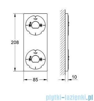 Grohe podstawka pod elektroniczny sterownik i przełącznik chrom 40548000