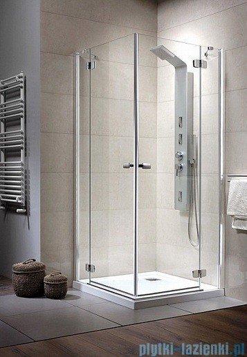 Radaway Kabina prysznicowa Fuenta KDD 100x80 szkło przejrzyste + Brodzik Argos D + syfon 381063-01L