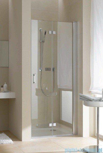 Kermi Diga Drzwi wahadłowo-składane, prawe, szkło przezroczyste, profile białe 100x200 DI2DR100202AK