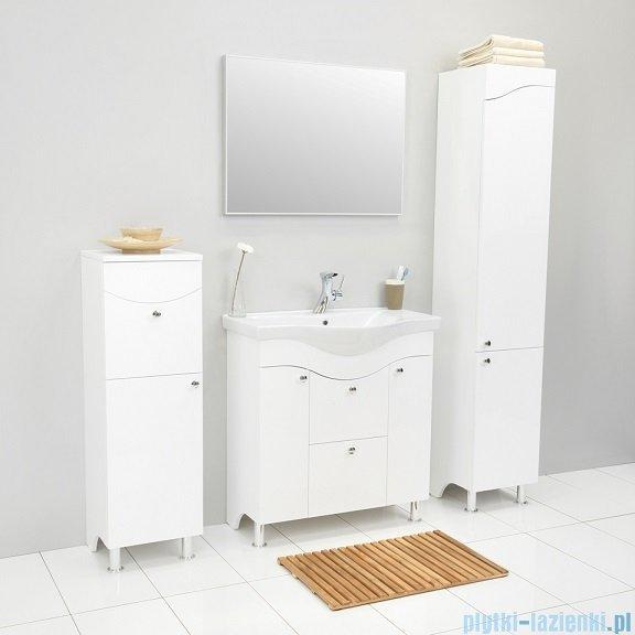 Antado Meva szafka podumywalkowa z umywalką 75x34x81 biały połysk BWM-140/80/2GT-WS+UCS-AL-80