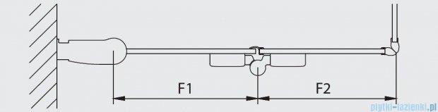 Kermi Diga Wejście narożne,połowa kabiny, lewa, szkło przezroczyste, profile białe 110x200cm DI2CL110202AK