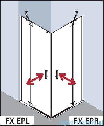 Kermi Filia Xp Wejście narożne, jedna połowa, prawa, szkło przezroczyste, profil srebro 75x200cm FXEPR07520VAK