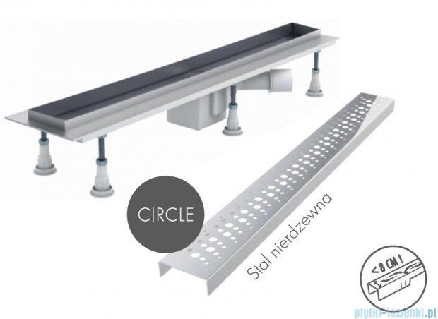 Schedpol odpływ liniowy z maskownicą Circle 80x8x9,5cm OLCE80/ST