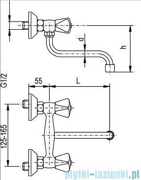 KFA STANDARD Bateria zlewozmywakowa ścienna 300-650-00