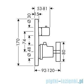 Hansgrohe Axor Citterio Bateria termostatyczna podtynkowa 39725000